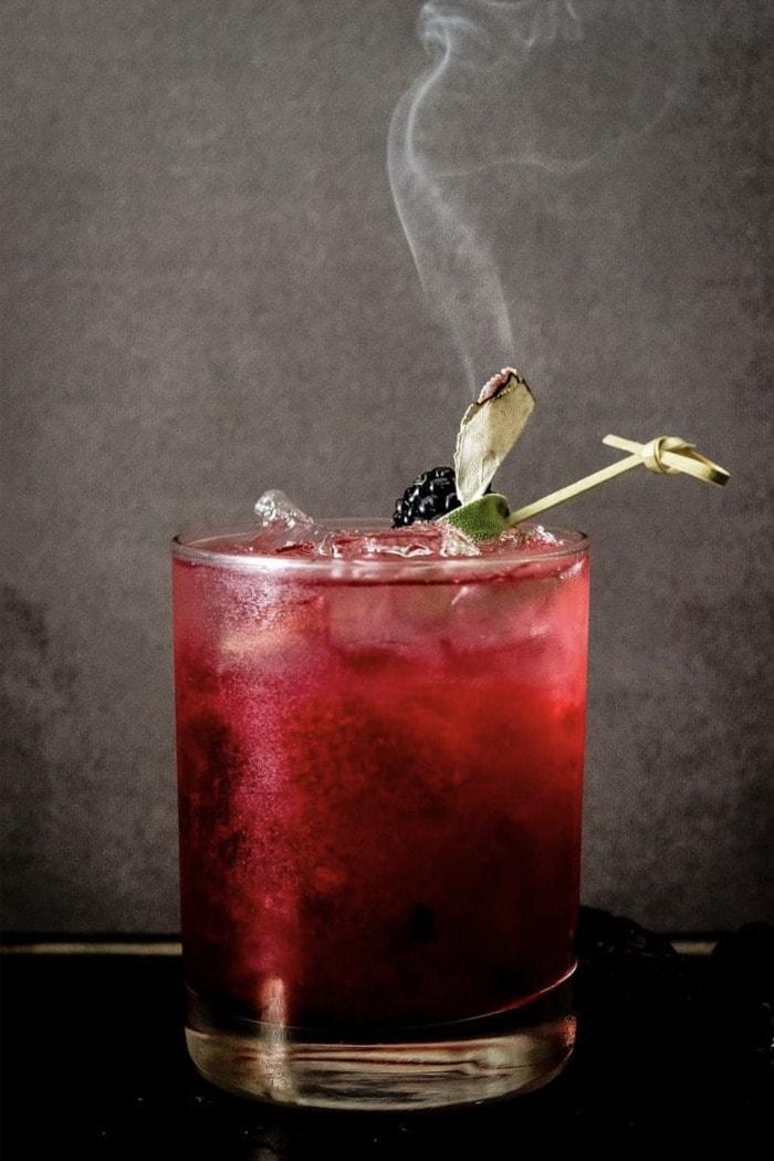Fall Cocktails - Blackberry Sage Margarita