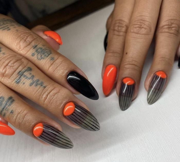 Halloween Nail Designs - pinstripe designs