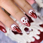 Halloween Nail Designs - Poison Apple nails