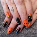 Halloween Nail Designs - classic black and orange