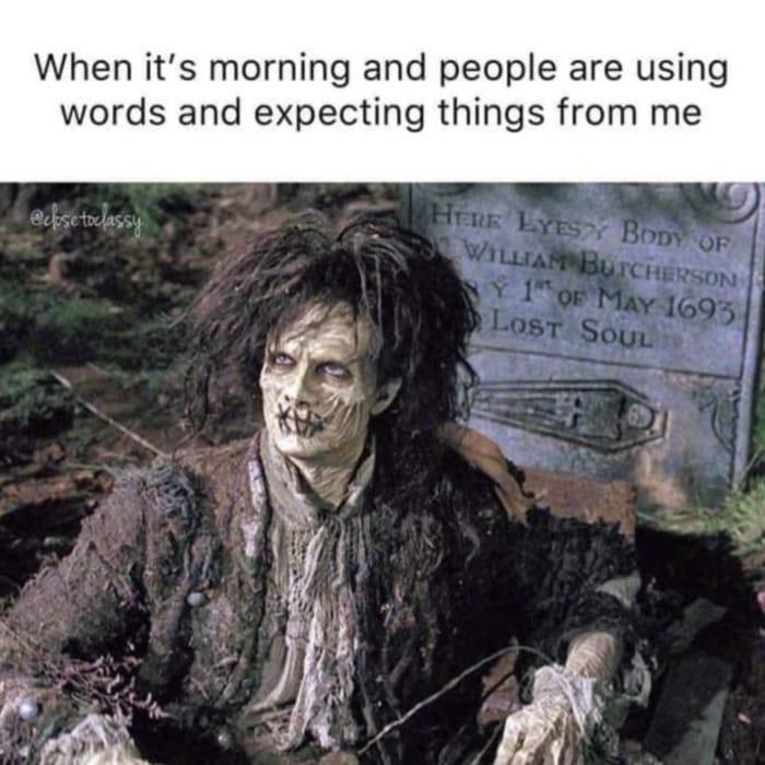 Hocus Pocus Memes - morning