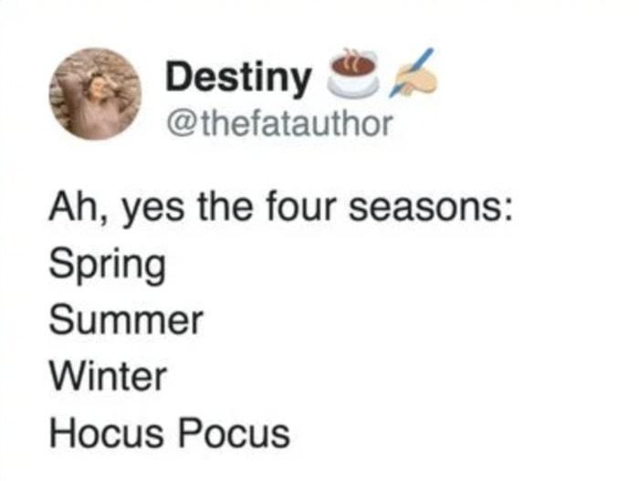 Hocus Pocus Memes - four seasons