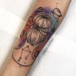 Libra Tattoo - updo watercolor