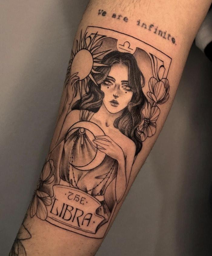 Libra Tattoo - tarot card