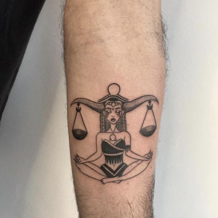 Libra Tattoo - balanced scales