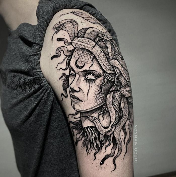 Medusa Tattoo - Dark Medusa Ink
