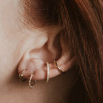 Orbital Piercing - titanium gold earring