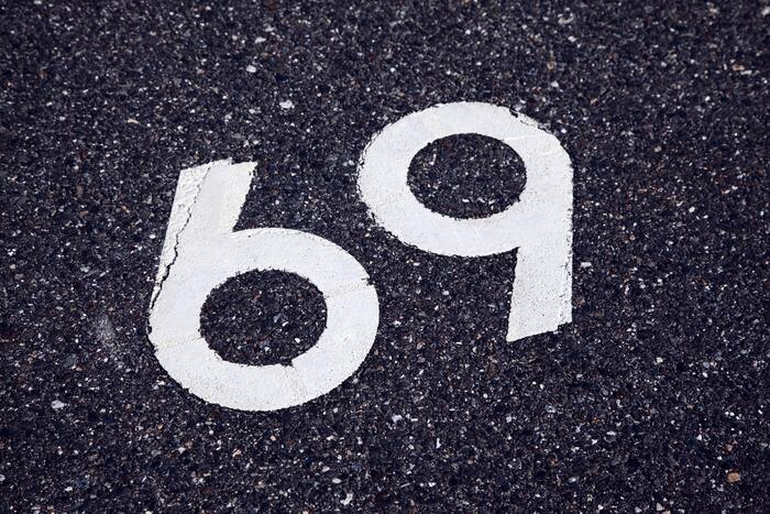 69 Position - road sign