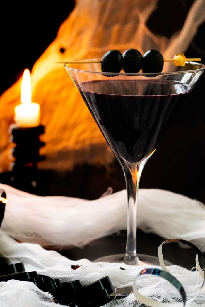 Halloween Cocktails - Black Widow Mocktail