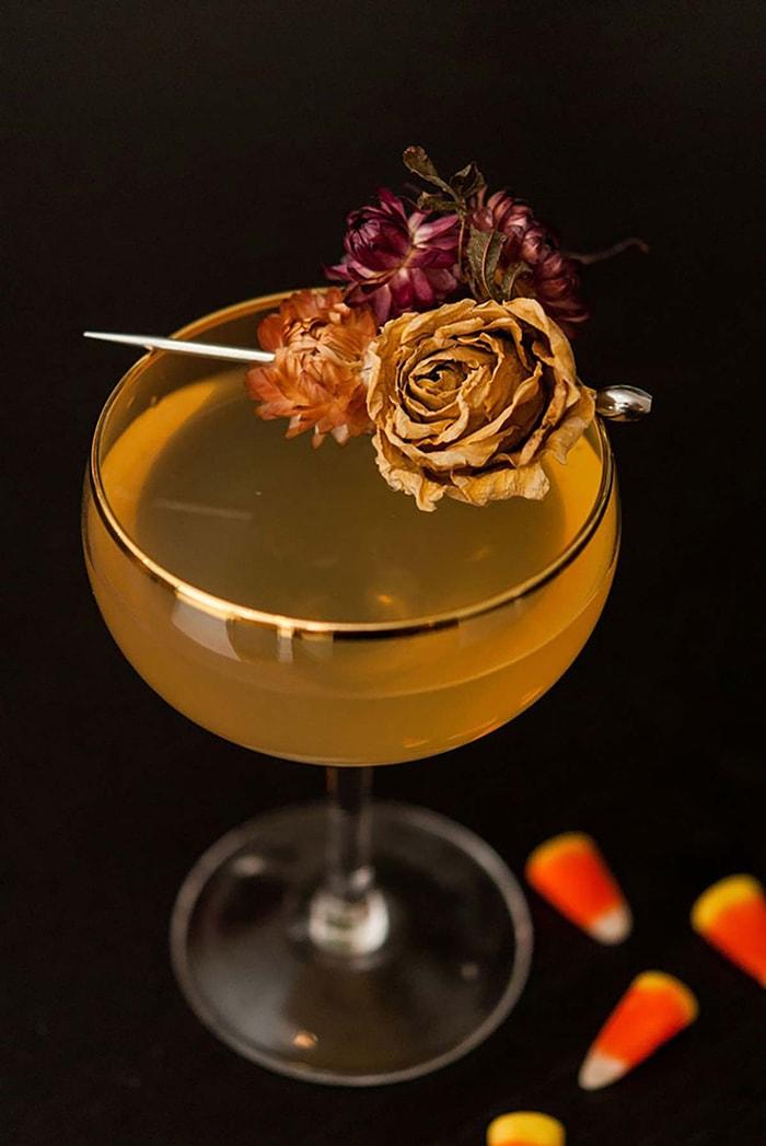 Halloween Cocktails - Candy Corn Martini
