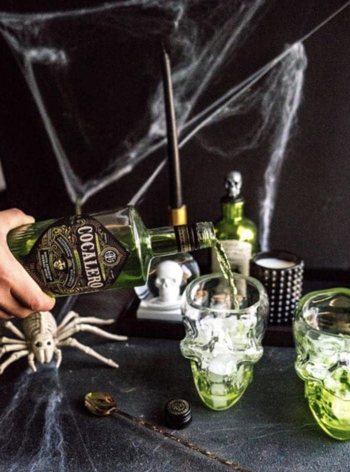 Halloween Cocktails - Smoking Skull