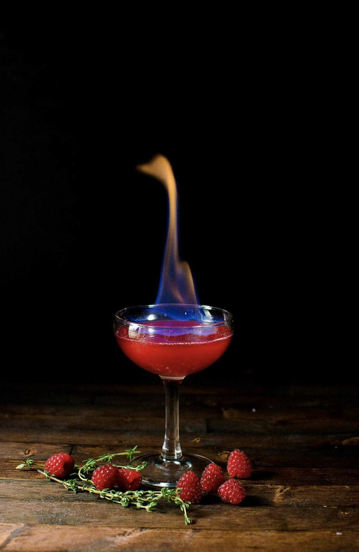 Halloween Cocktails - Flaming Dragon's Blood