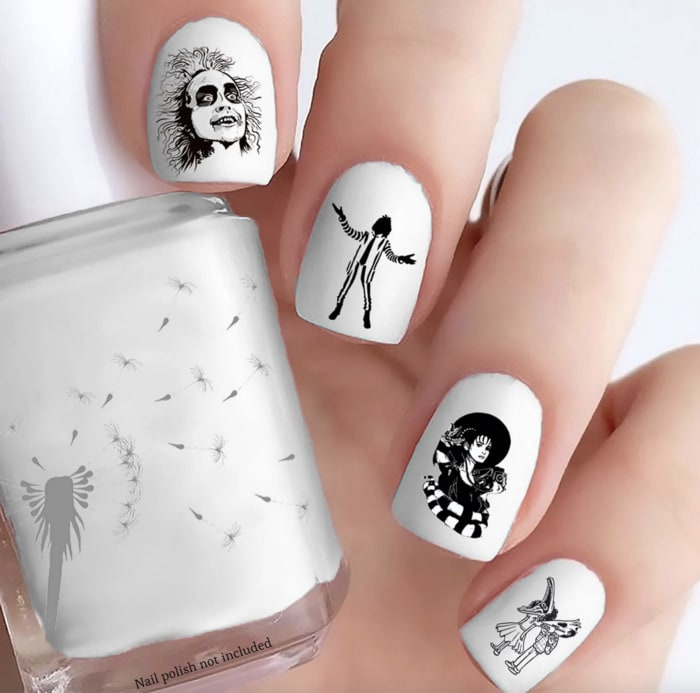 Beetlejuice Nails - Press-on stickers