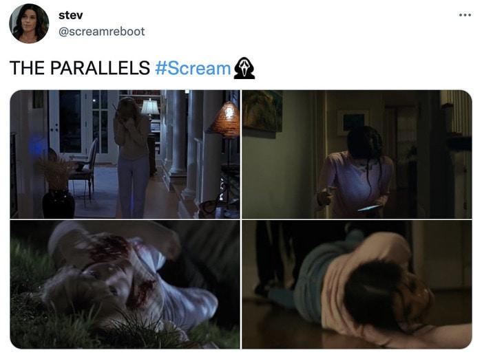 Scream Trailer Easter Eggs - opening scene parallels