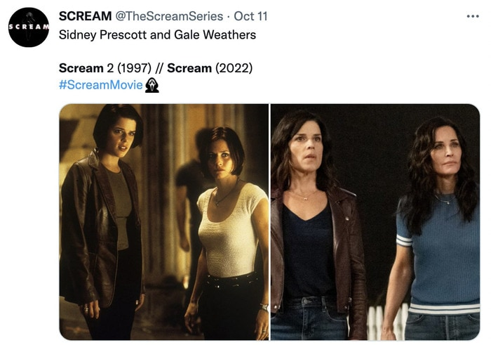 Scream Trailer Easter Eggs - sydney and gale
