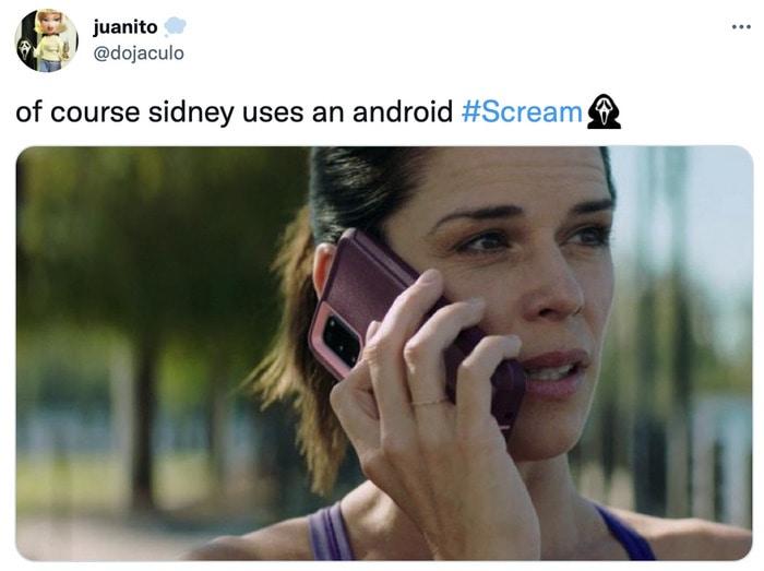 Scream Trailer Easter Eggs - sydney android phone