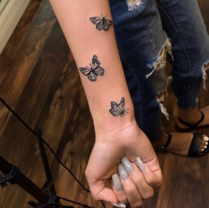 Small Tattoos - butterflies