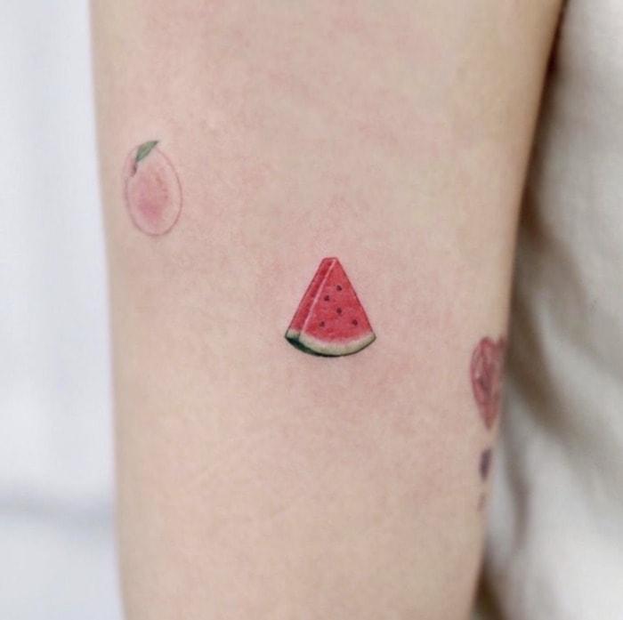 Small Tattoos - juicy watermelon