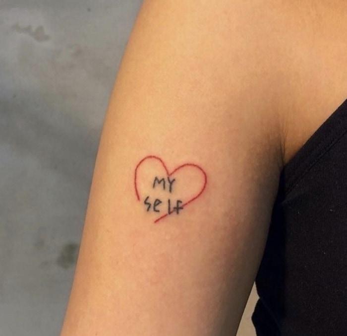 Small Tattoos - self love