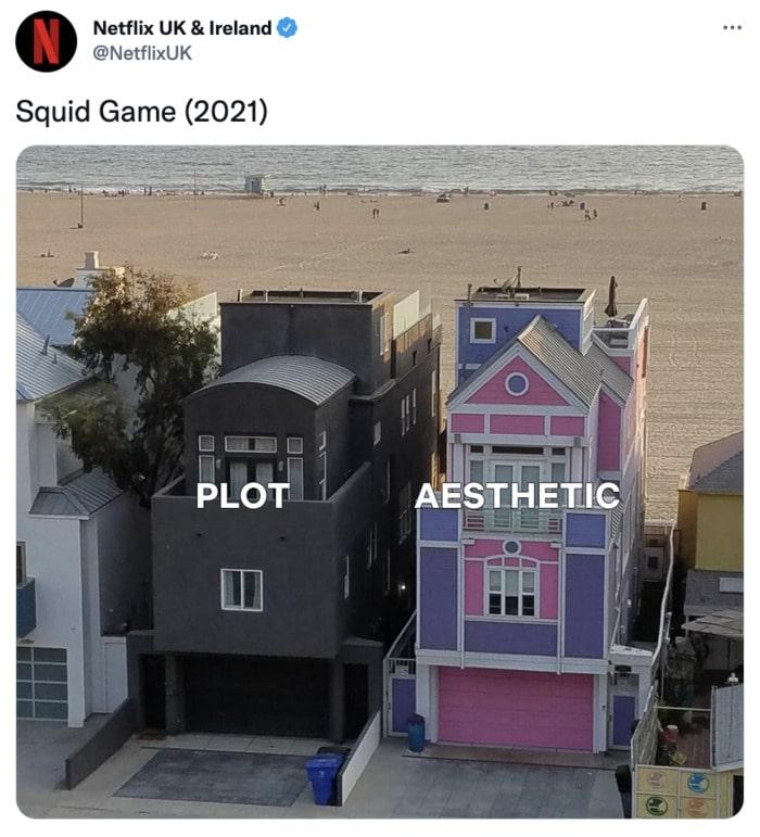 Squid Game Memes - plot vs aesthetic