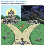 Squid Game Memes - playing squid game 2