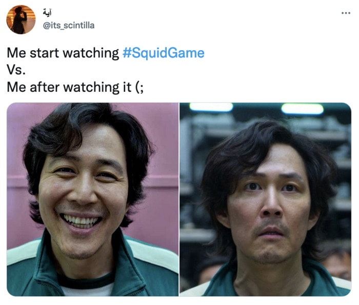 Squid Game Memes - before and after