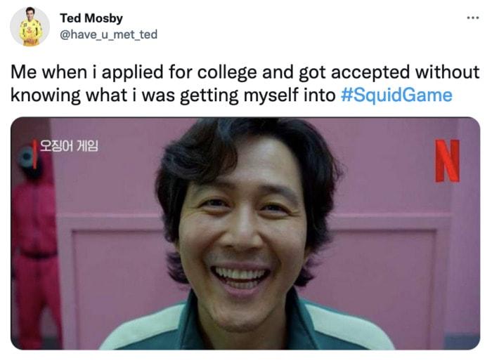 Squid Game Memes - college