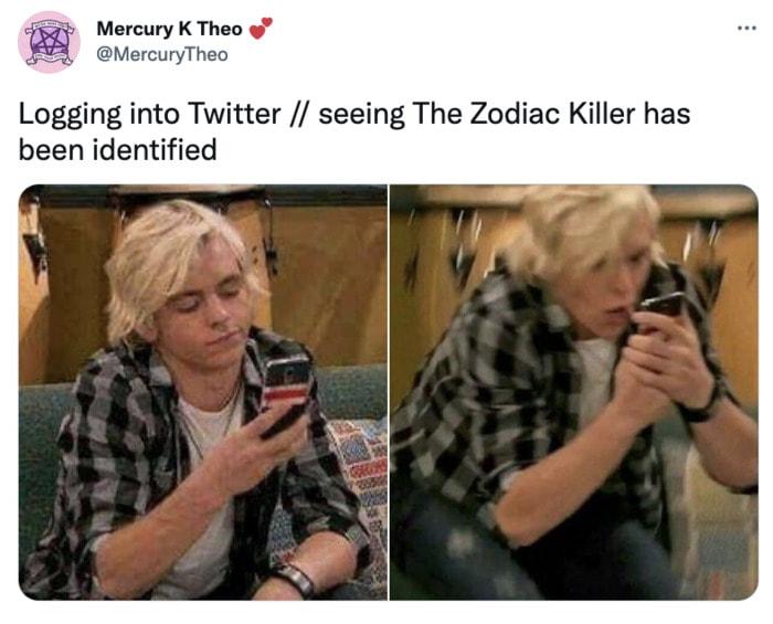 Zodiac Killer Tweets - Twitter reaction
