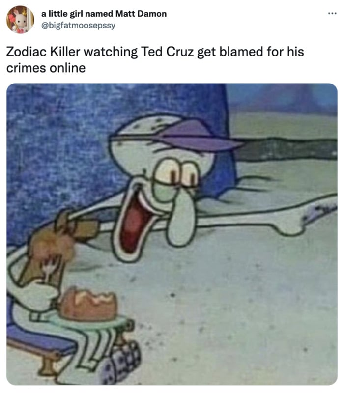 Zodiac Killer Tweets - Ted Cruz blamed